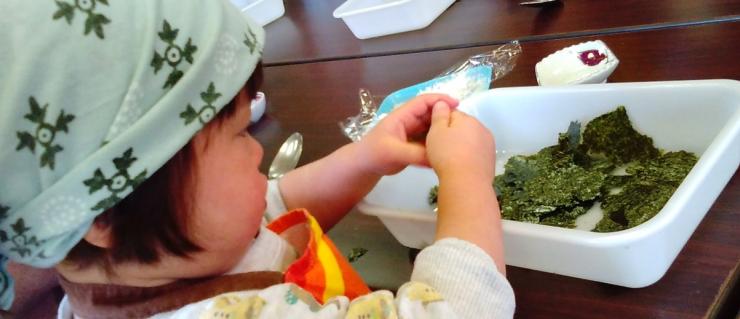 テーマ例:ミニ調理体験*1歳半からできる「おにぎり」ワークショップ